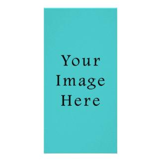 Light Aqua Blue Color Trend Blank Template Photo Cards