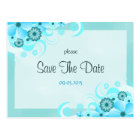 Light Aqua Blue Floral Wedding Save The Date Cards