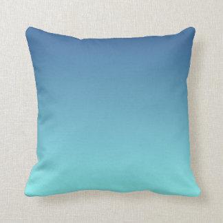 Light Aqua Blue Ombre Cushion