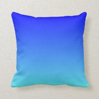Light Aqua Blue Ombre Throw Pillow
