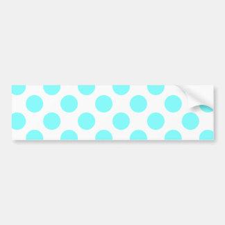Light Aqua Dots Bumper Sticker