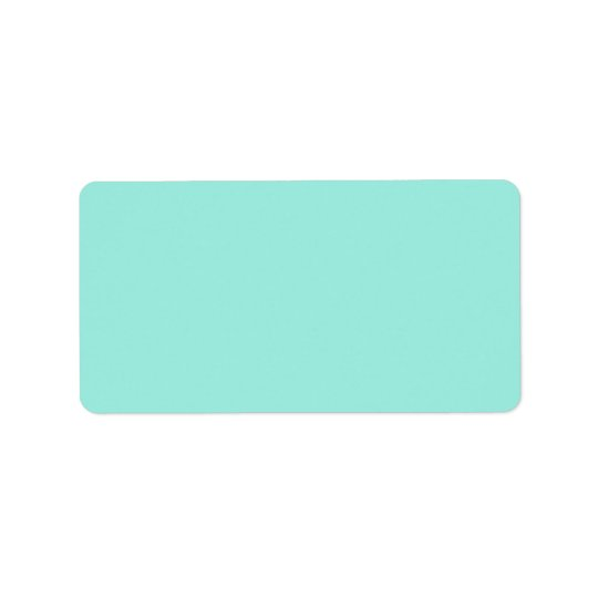 Light Aquafresh Aqua Blue Green Fashion Colour Label