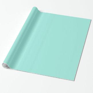 Light Aquafresh Aqua Blue Green Fashion Colour Wrapping Paper
