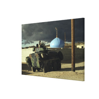 Light armored vehicle commander canvas print