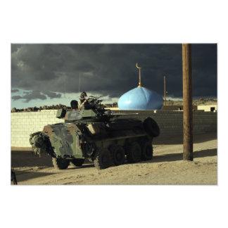 Light armored vehicle commander photo print