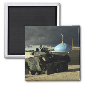 Light armored vehicle commander square magnet