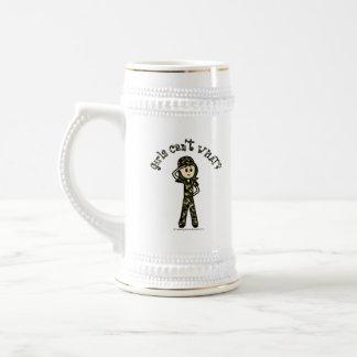 Light Army Woman Coffee Mugs