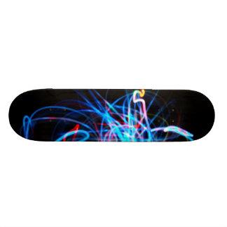 Light art blue - custom skate board
