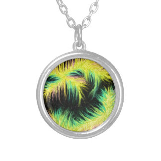 Light As A Feather Design Round Pendant Necklace