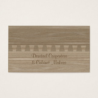 Light ash colored dovetail joint business card