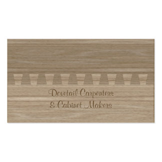 Light ash colored dovetail joint pack of standard business cards
