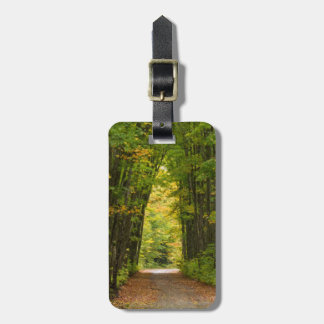 Light At The End Of A Tunnel Of Trees Luggage Tag