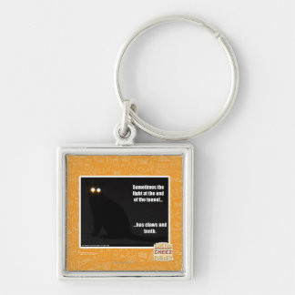 Light at the End of the Tunnel Silver-Colored Square Key Ring