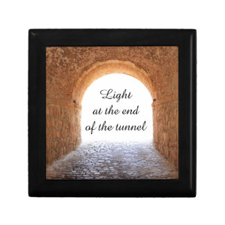 Light at the end of the tunnel small square gift box