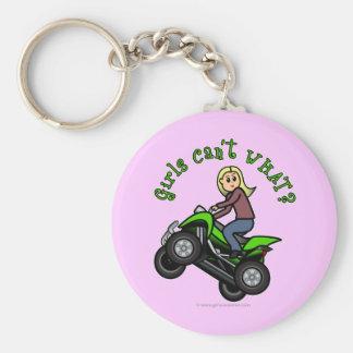 Light ATV | Four Wheeling Girl Basic Round Button Key Ring