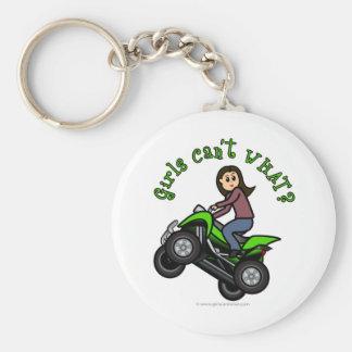 Light ATV | Four Wheeling Girl Key Chains