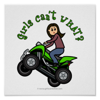 Light ATV | Four Wheeling Girl Poster