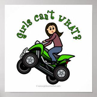 Light ATV Four Wheeling Girl Poster