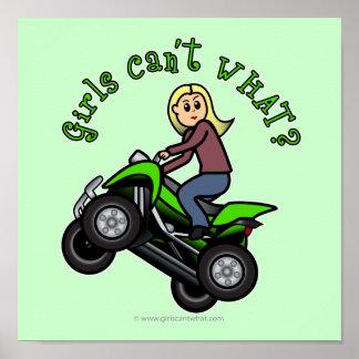 Light ATV Four Wheeling Girl Print