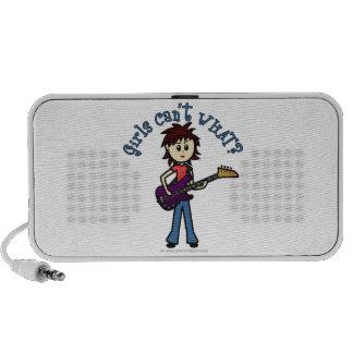 Light Bass Guitar Girl iPod Speaker