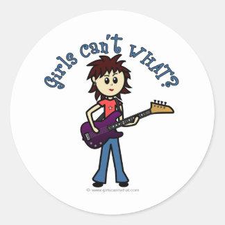 Light Bass Guitar Girl Sticker