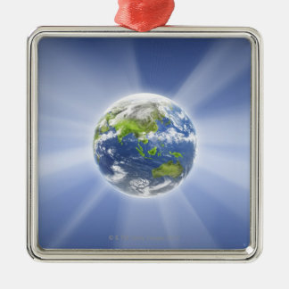 Light Beams from Earth Christmas Ornament