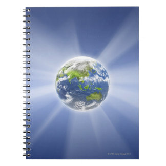 Light Beams from Earth Notebooks