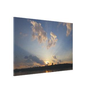 Light Beams Sunset Canvas Print