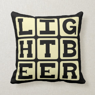 Light Beer, Healthy Cerveza Pillow