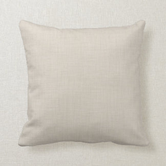 Light Beige Faux Linen Accent Pillow