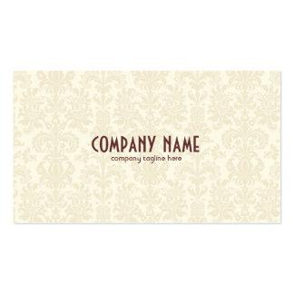 Light Beige Vintage Floral Damasks Pack Of Standard Business Cards