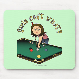 Light Billiards Girl Mouse Mat
