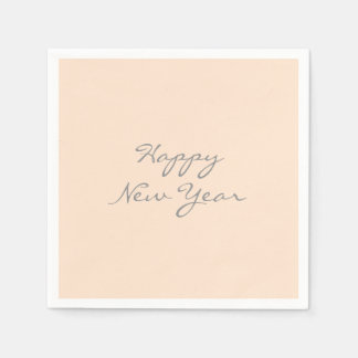 Light Bisque Happy New Year Custom Event Template Disposable Serviettes
