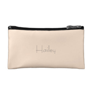 Light Bisque Personalized Bag Cosmetic Bags