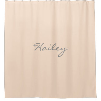 Light Bisque Personalized Shower Curtain