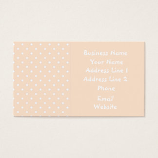 Light Bisque Polka Dot Template Business Cards