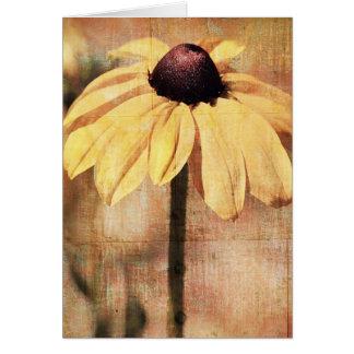 Light Black Eyed Susan Flower Greeting Card