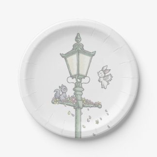 Light, Blossom and Woodland Creatures 7 Inch Paper Plate