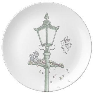 Light, Blossom and Woodland Creatures Porcelain Plates