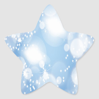 Light Blue Abstract Art Star Sticker