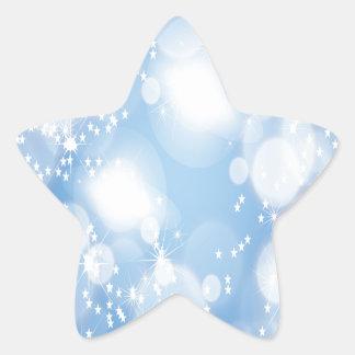 Light Blue Abstract Art Star Stickers