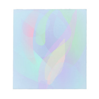 Light Blue Abstract Colors Note Pads
