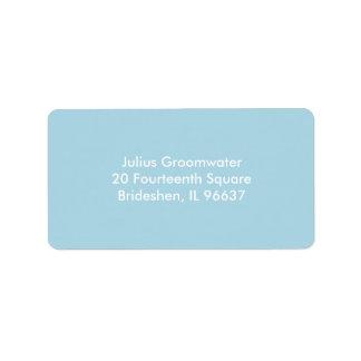 Light Blue Address Label