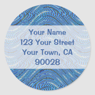 light blue address labels round sticker