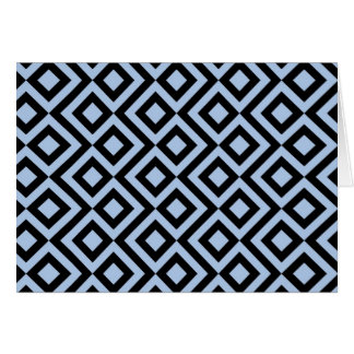 Light Blue And Black Meander Card