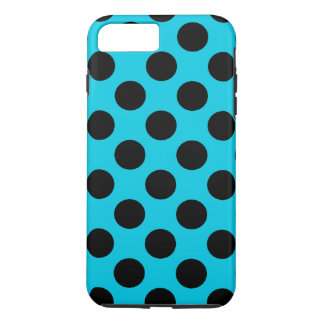 Light Blue and Black Polka Dots iPhone 7 Plus Case