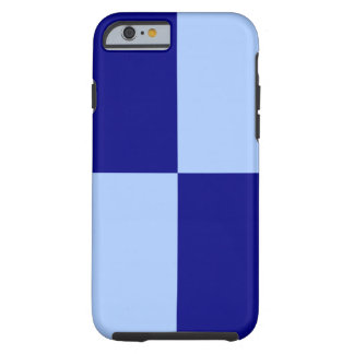 Light Blue and Dark Blue Rectangles iPhone 6 case