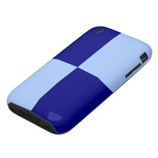 Light Blue and Dark Blue Rectangles Tough iPhone 3 Case