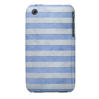 Light Blue and Grey Watercolor Stripes Pattern iPhone 3 Case