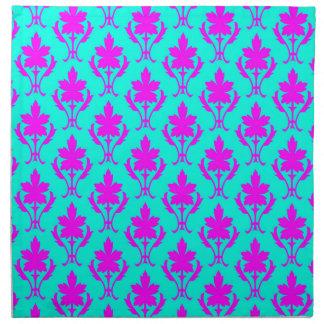 Light Blue And Pink Ornate Wallpaper Pattern Napkin